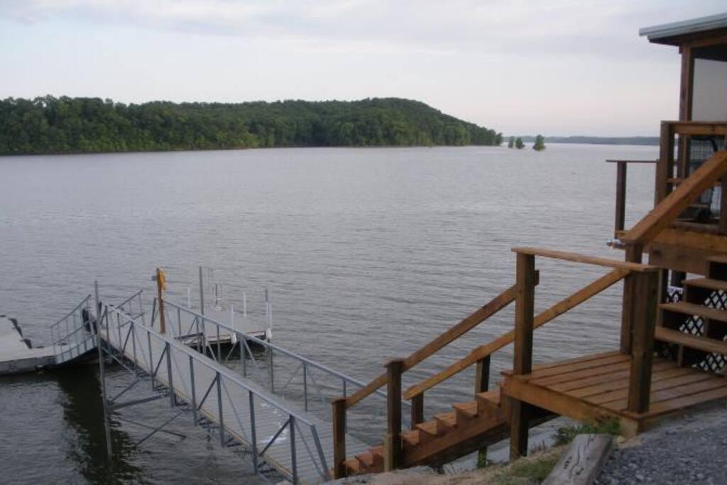 Looking at swim/dock below cabin