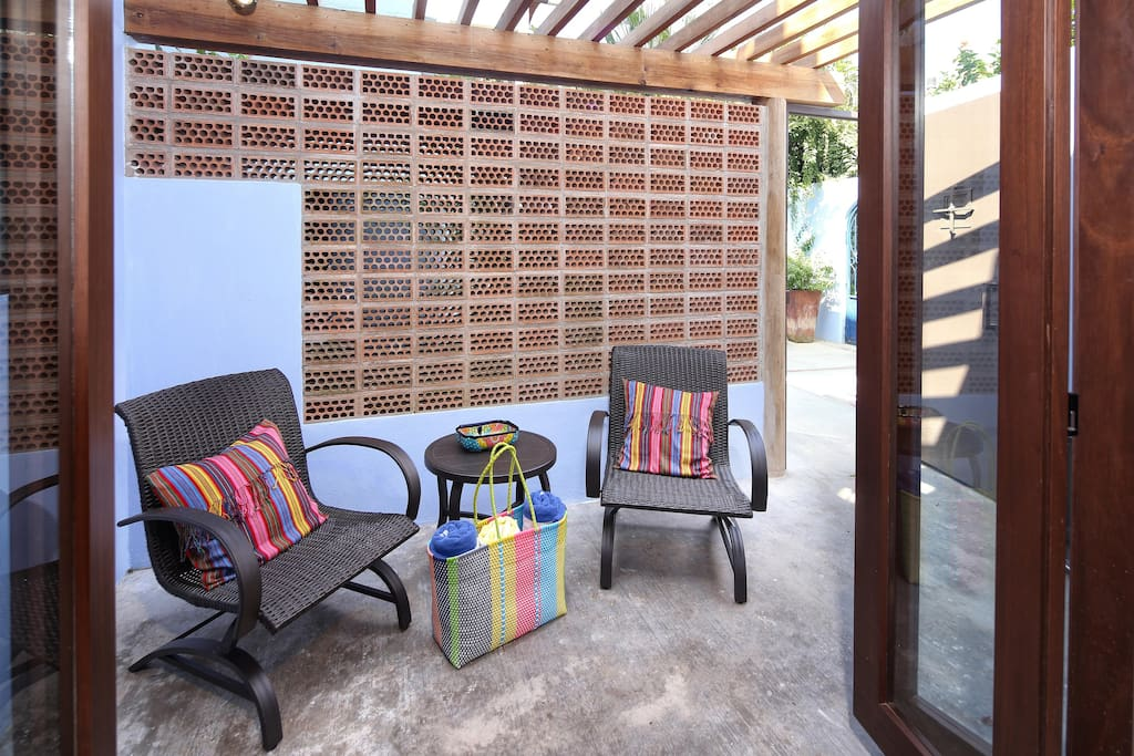 Private patio off of suite