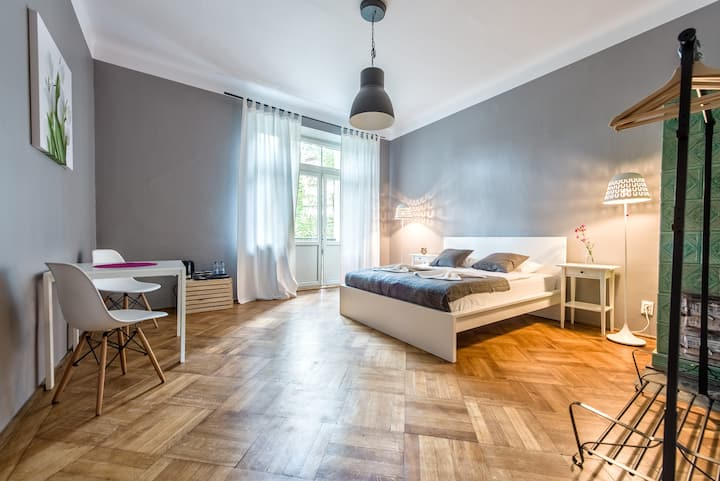 Double room with bathroom at Sereno Apartments