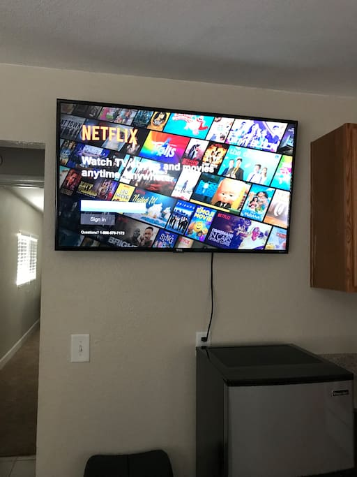 """55"""" Smart TV for your favorite shows to enjoy!"""