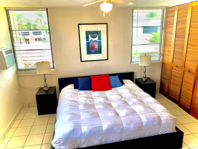 Master Bedroom with Upgraded King bed for extra comfort