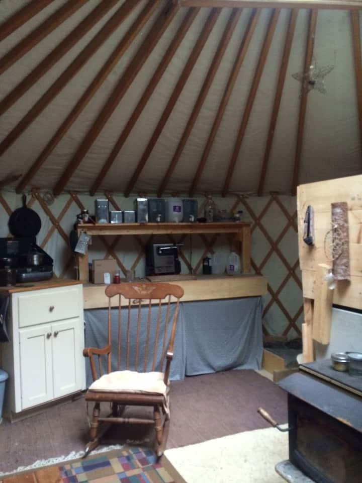 20'yurt at creek