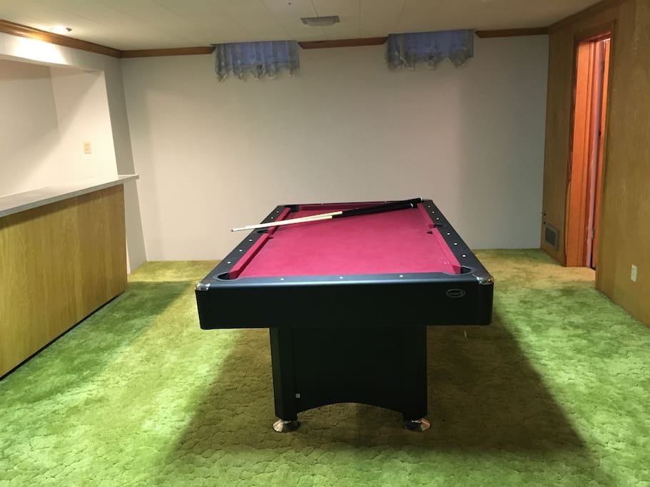 Pool table/ping pong table will keep you entertained for hours.