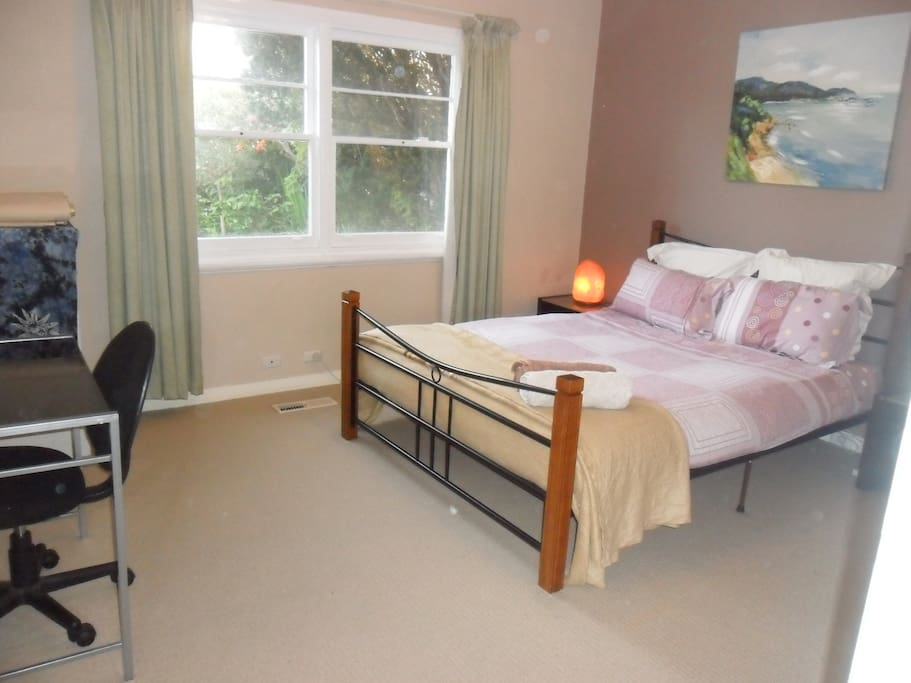 One of the large double bedrooms with QS bed.
