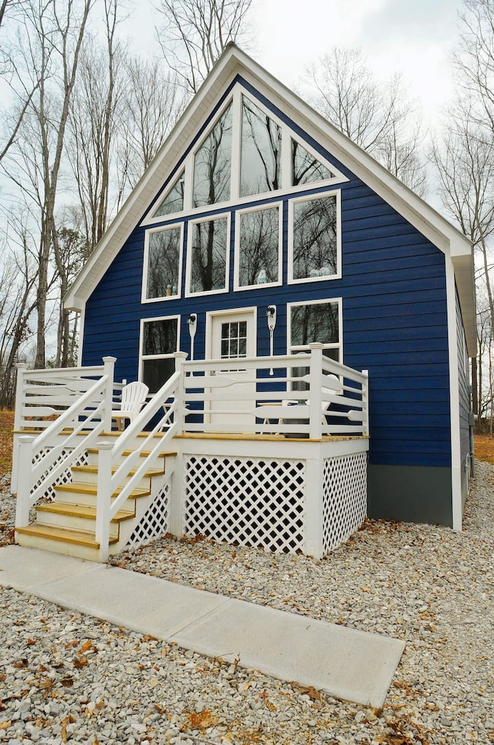 Beautiful Blue Cabin