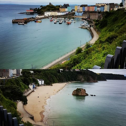 Tenby beach 10 miles from Pendine
