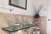 Double vanity  Shared Full bathroom