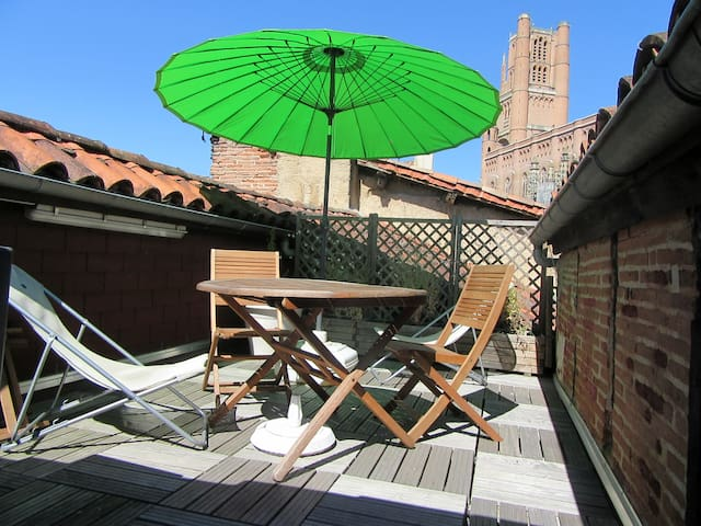 Apartment with terrace in the historic center - Albi - Lejlighed