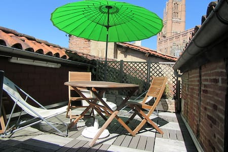 Apartment with terrace in the historic center - Albi - Huoneisto