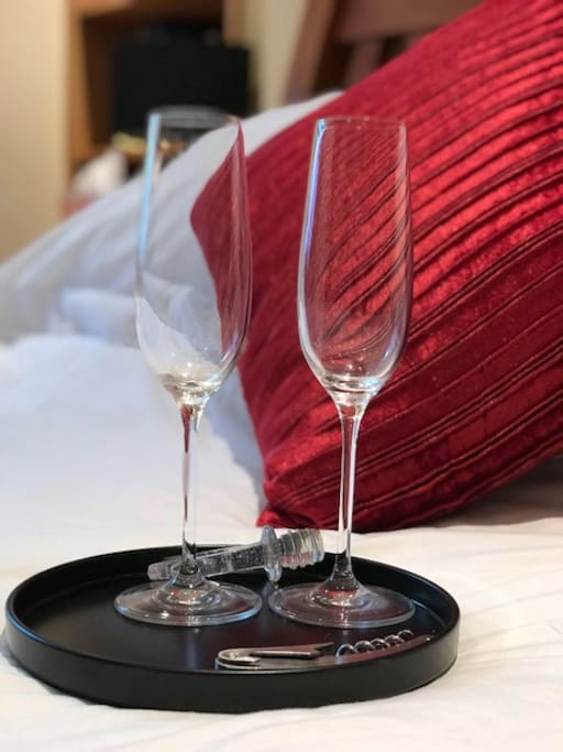 Celebrate with a glass of.... glasses provided for any occasion