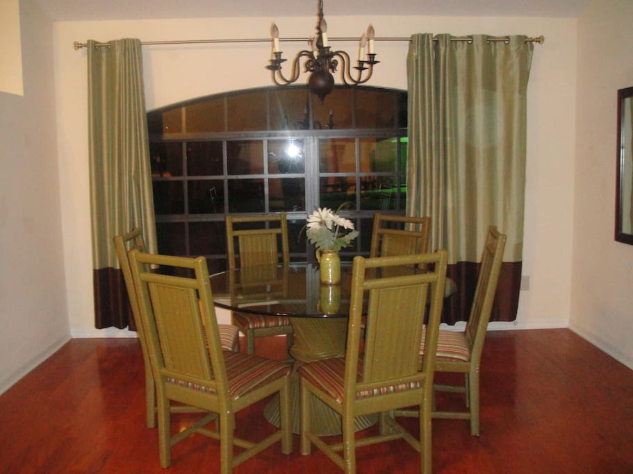 enjoy a nice meal in our dining room...