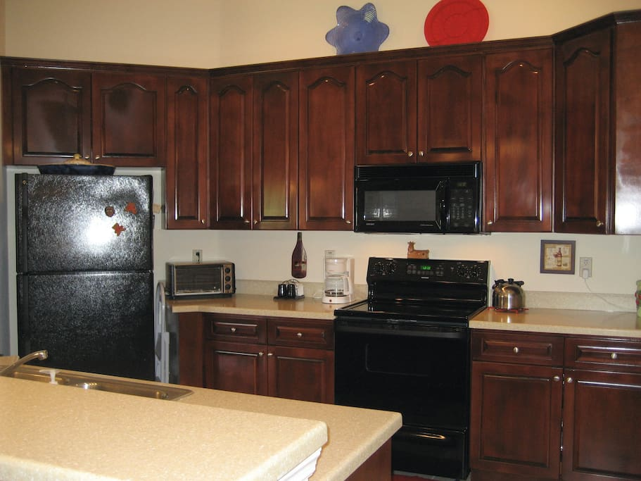 feel free to cook a nice meal in our spaceous kitchen while you save money by not dining out every night