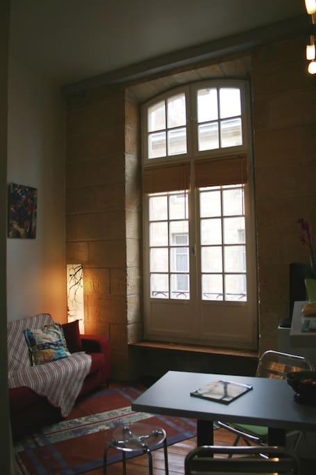 Le salon avec canapé-lit