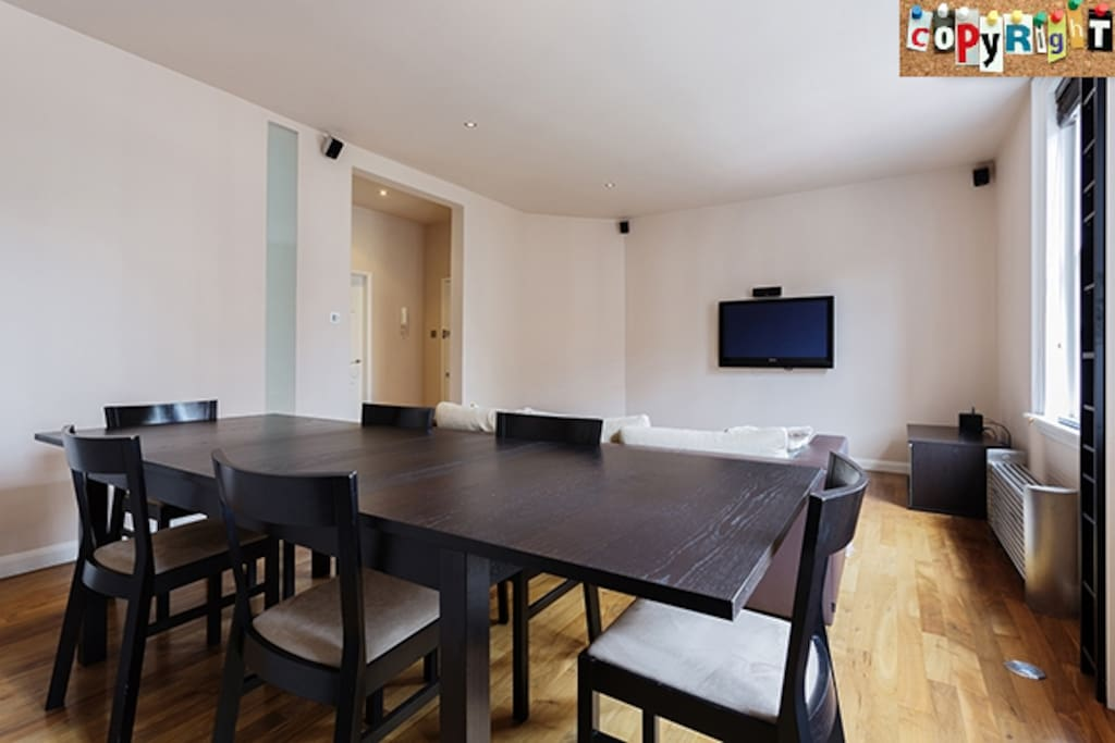 Spacious, Suave Lounge and Dining