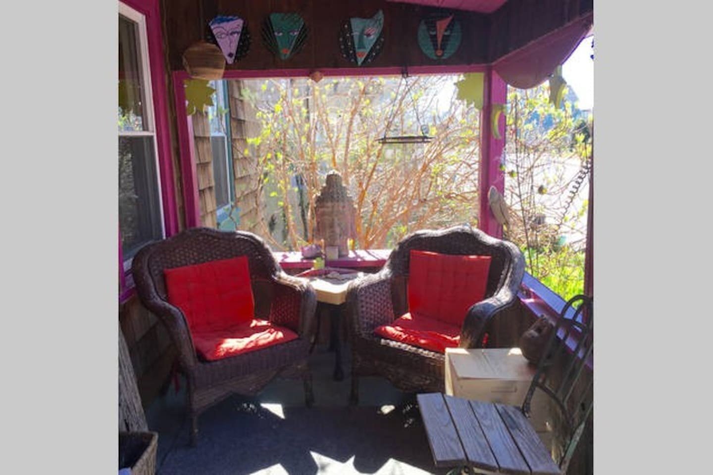 Enjoy coffee, a drink or just relax on the front porch