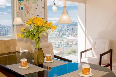 Panoramic View of Quito Historic Center.