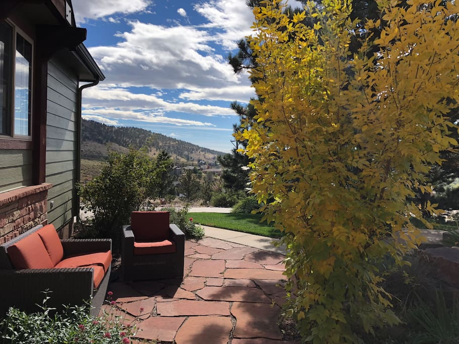 View from your entrance / fall colors