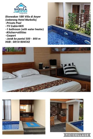 1 BR with private pool @Anyer