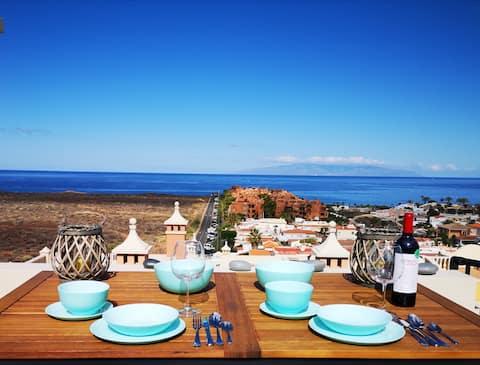 45sqmRoof terrace+sea view+360°+Teideblick+pool