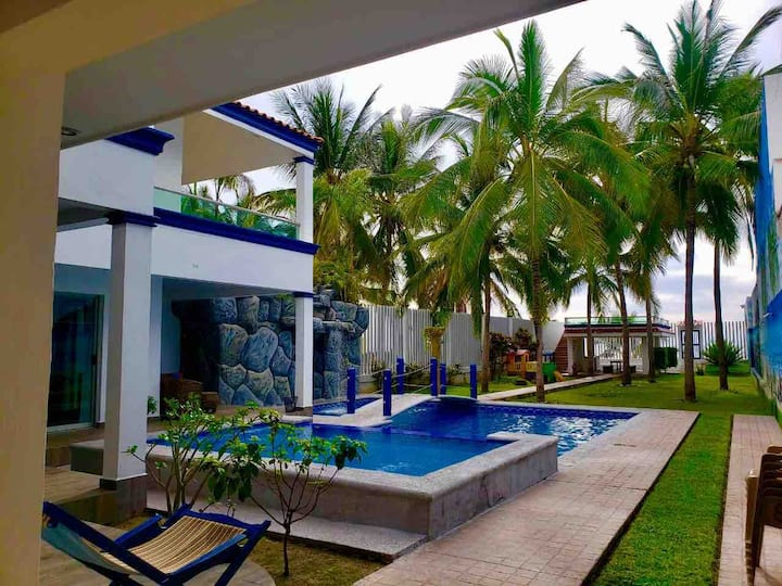 Casa Matanchen, On the Beach, Ocean Front Pool