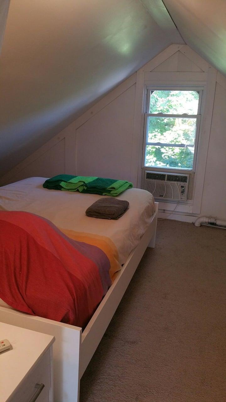 Finished Attic Bedroom in best neighborhood