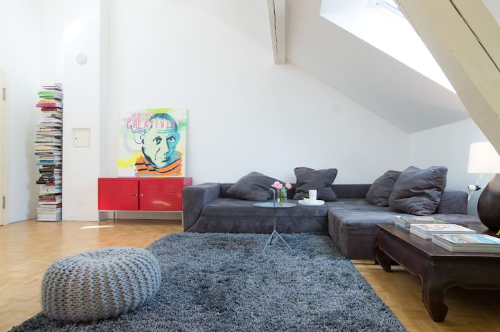 Huge architect's loft in trendiest area of Zurich