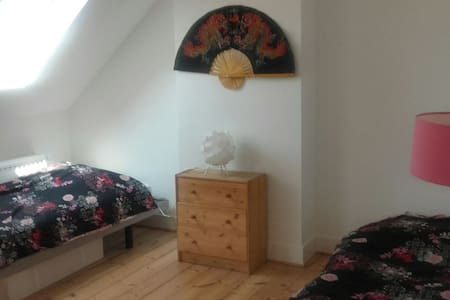 Superbe chambre 2 lits à Auderghem - Ház