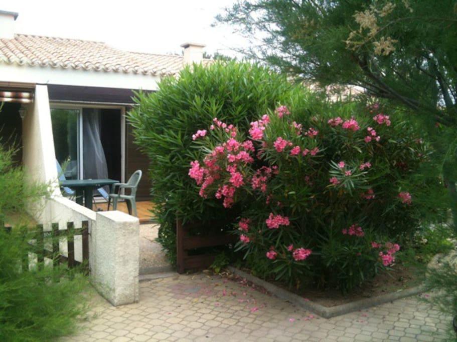 villa fleurie et sa terrasse privée