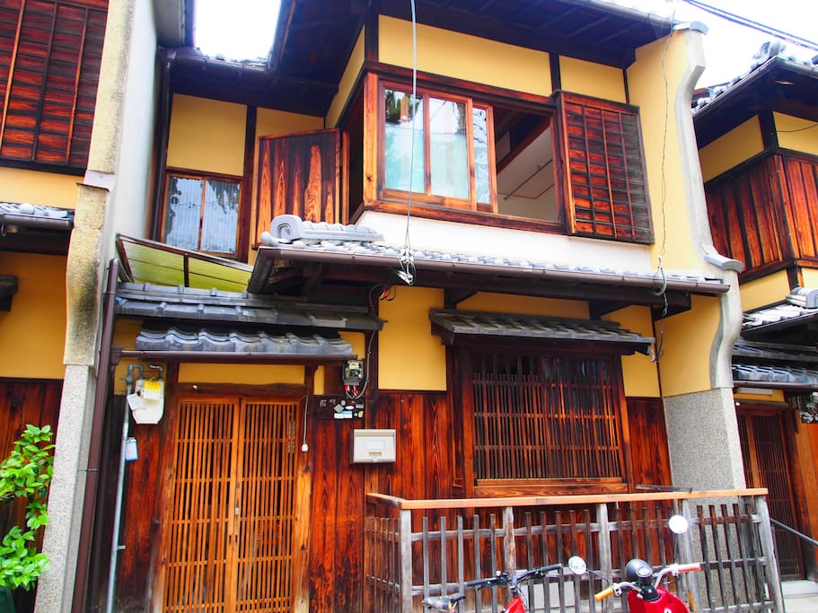 100 years old traditional wooden housing.
