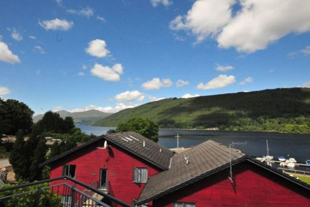 Views of Loch Tay from the terrace
