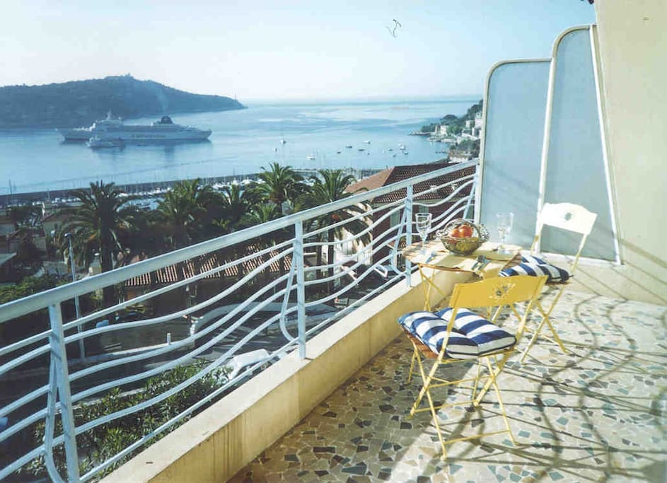 View from Balcony overlooking Bay of Villefranche