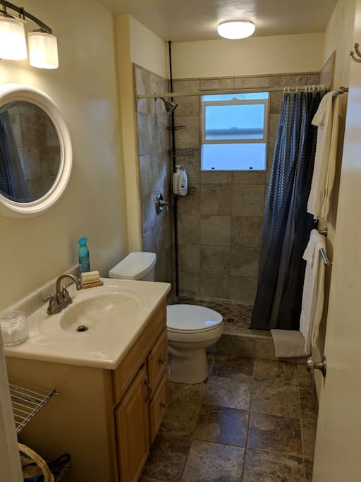 spacious newly remodeled bathroom