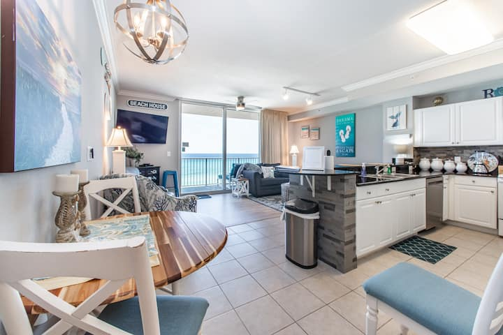 ☼Gulf Front☼UPDATED☼2 Gulf Side Pools + Hot Tub☼Sanitized 2x☼Tidewater 307