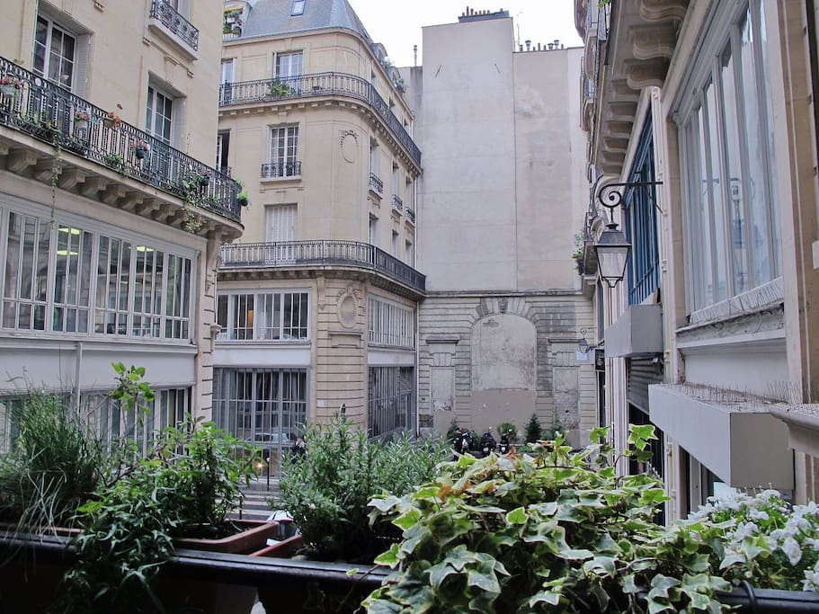 View from the window - have you seen Les Chansons d'Amour? That's where it was shot.