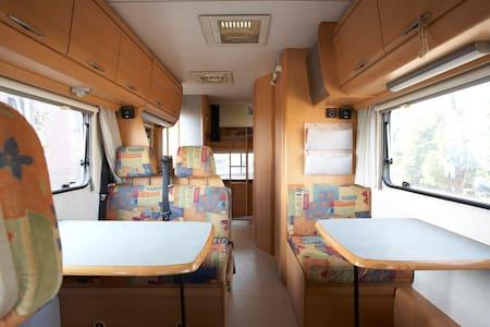 Hymer Wohnmobil vor unserer Haustür - Xanten - Autocaravana