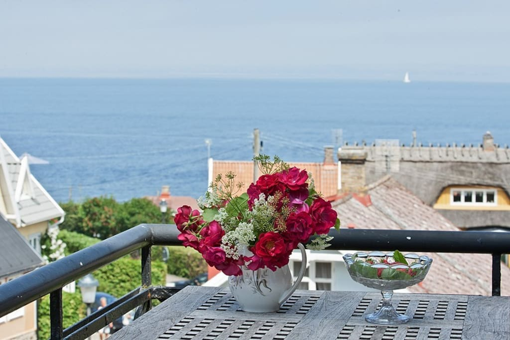 View of the sea from one of the balconies