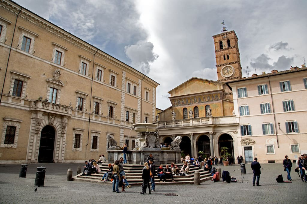 The apartment is very close to the Famous attraction Santa Maria in Trastevere