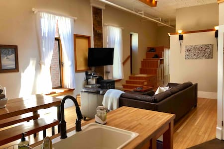 Luxury 2 Bed Loft in a Old Firehall