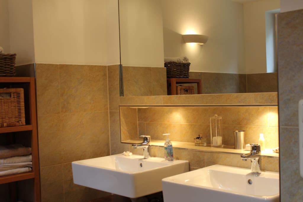 The 2 wash basins