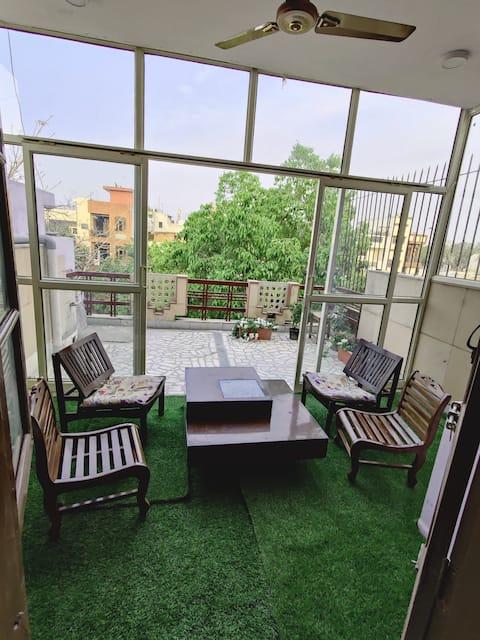 花园橄榄-舒适的卧室+户外绿色休息室