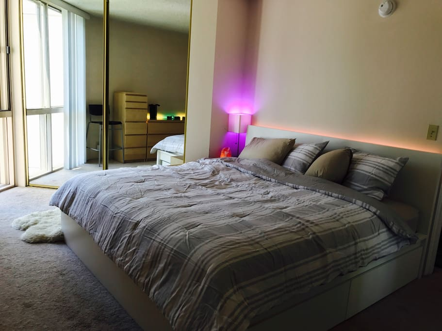 This is your private bedroom with California King Bed