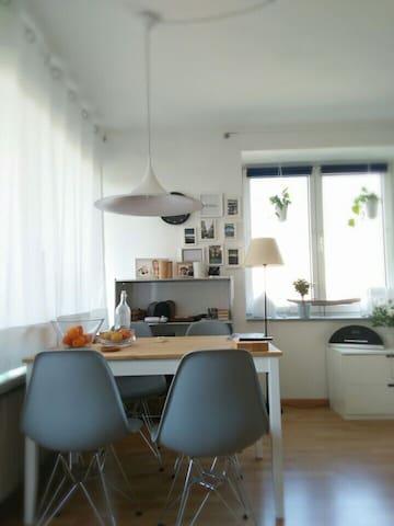 Sonnige helle Wohnung mit Fahrrad und Balkon - Freiburg im Breisgau - Appartement