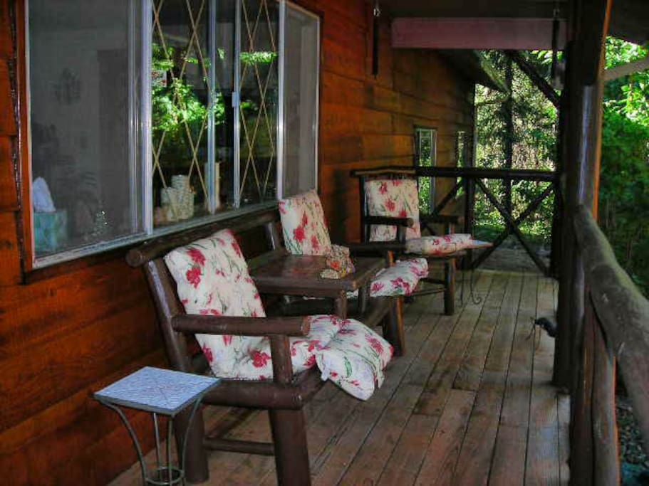 Comfy Covered Front Porch!
