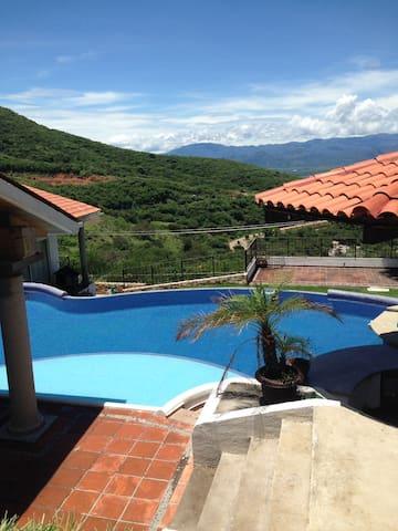swim pool to enjoy the view