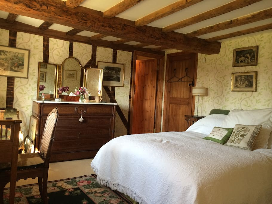 Large double bedroom with views over the garden.