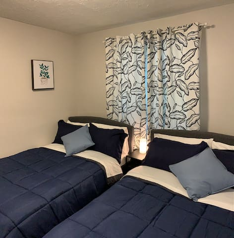 Bedroom with Two Full-Size Beds
