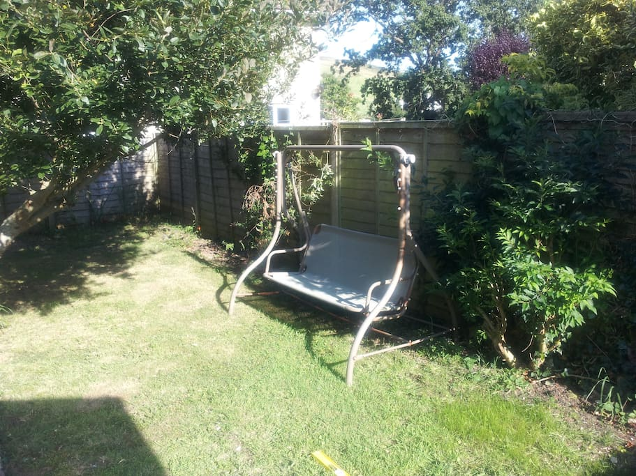 Relax, read or doze on our swing seat