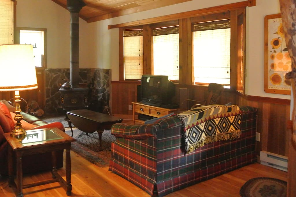 Enjoy beautiful mountain views from one of two cozy living rooms.