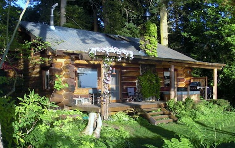 The Log Cabin on Hood Canal Bluff