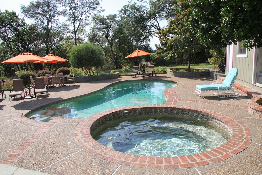 Lounge by the pool in the warm sunshine or enjoy the hot tub at night.